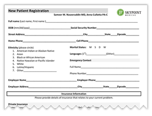 Patient Form Skypoint Medical